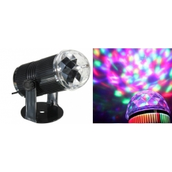 Spalvotas projektorius LED RGB DISCO 230V