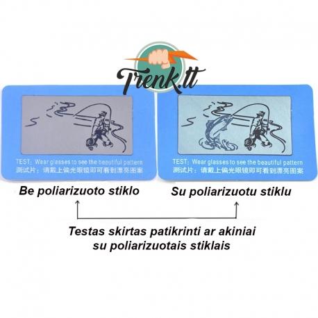 Poliarizuotų akinių testas, kortelė