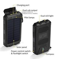 Galinga nešiojama saulės baterija (PowerBank) 16000mah