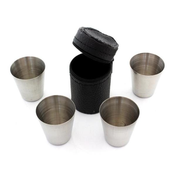 Stikliukų rinkinys dirbtinės odos dėkle (4vnt.)