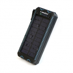 Saulės baterija (PowerBank) su el.žiebtuvėliu