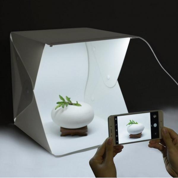 Fotografavimo dėžė SU LED apšvietimu