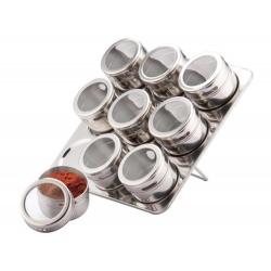 10 dalių magnetinis prieskonių stovas