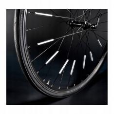 Atšvaitų juostelės ant dviračio stipinų 12 vnt.