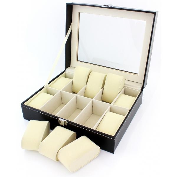 Papuošalų - laikrodžių dėžutė