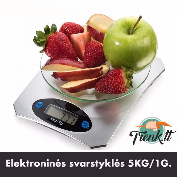 Elektroninės virtuvinės svarstyklės 5KG/1G