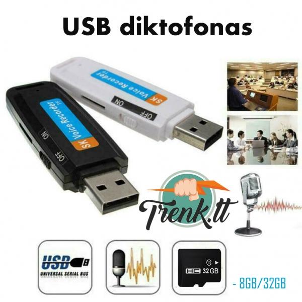 Slaptas USB Diktofonas