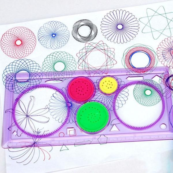Spirografas- piešimo spiralėmis rinkinys + 2 pieštukai