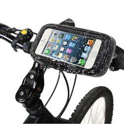 Neperšlampamas telefono laikiklis ant dviračio