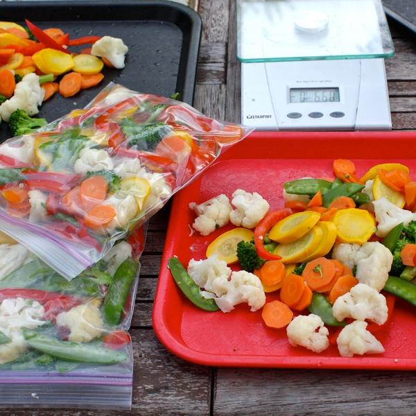 Maisto laikymo/šaldymo maišeliai, 6 vnt