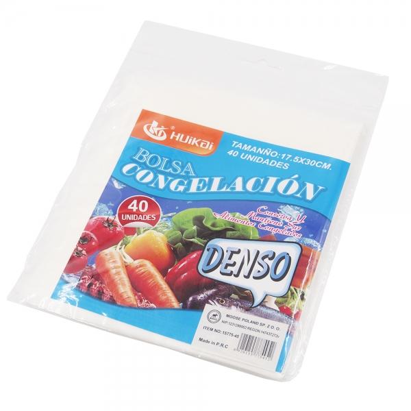 Maisto Laikymo/Šaldymo Maišeliai, 40 Vnt