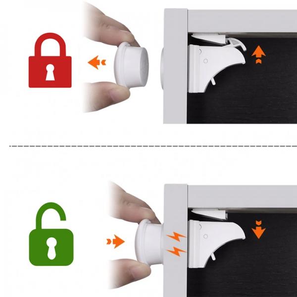 Magnetinis užraktas, 4 vnt.+1 raktas