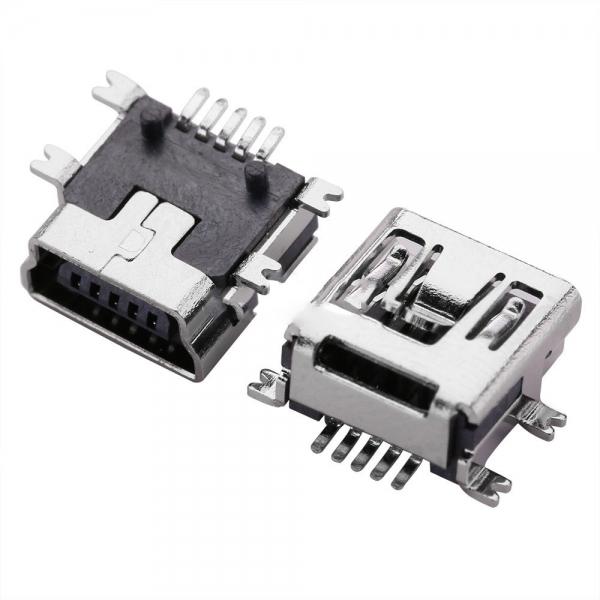 Lituojamas Lizdas Mini USB SMD 5 Pin