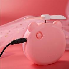 Įkraunamas USB Ventiliatorius su veidrodėliu