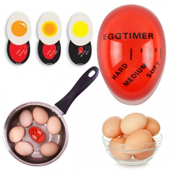Spalvą keičiantis kiaušinių virimo laikmatis