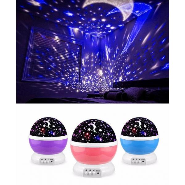 Naktinė LED Lempa, Žvaigždžių Projektorius