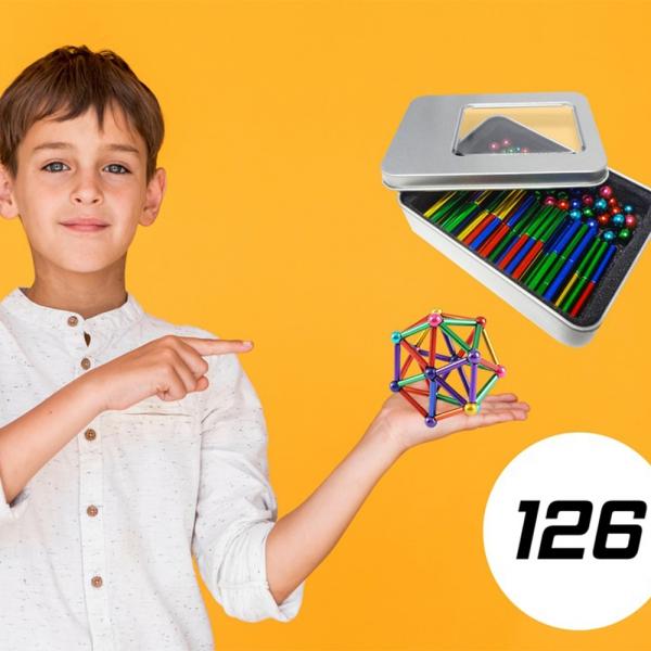 Magnetinis konstruktorius 126 dalys