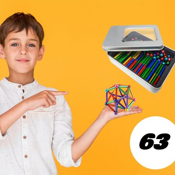 Magnetinis Konstruktorius 63 Dalys