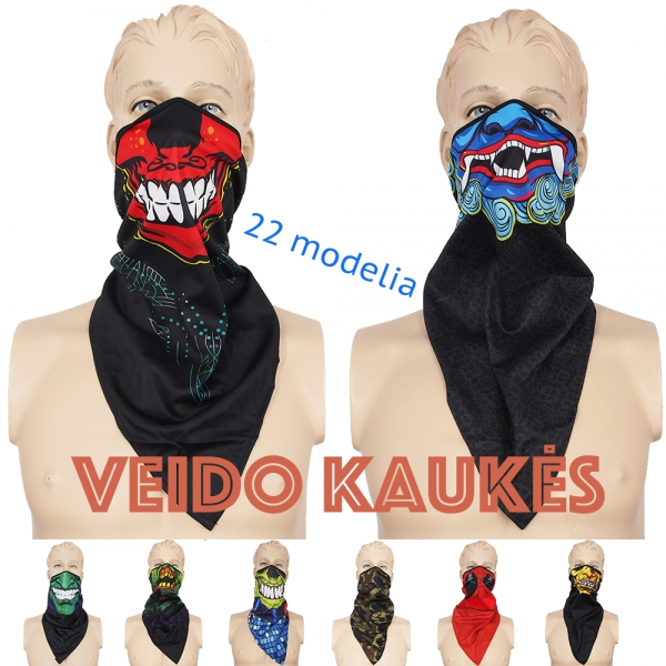 Veido kaukė - bandana XLINE