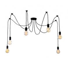 Retro stiliaus šviestuvas, 6 lempos