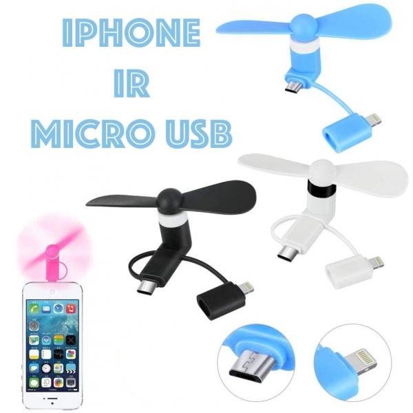 Micro USB- iPhone ventiliatorius