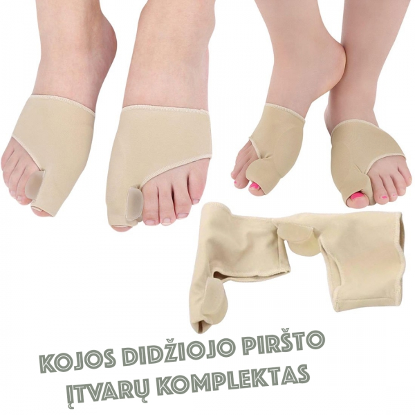 Kojos Didžiojo Piršto Įtvarų Komplektas (2 Vnt.)