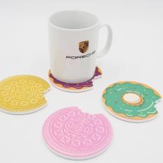 Keramikiniai puodelio padėkliukai, 4 vnt.