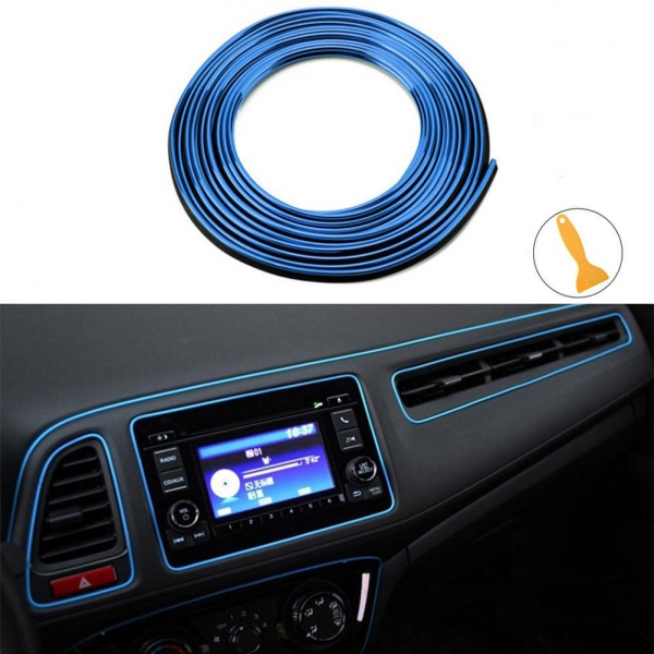 Dekoratyvinė Juostelė Automobiliui (Mėlyna)