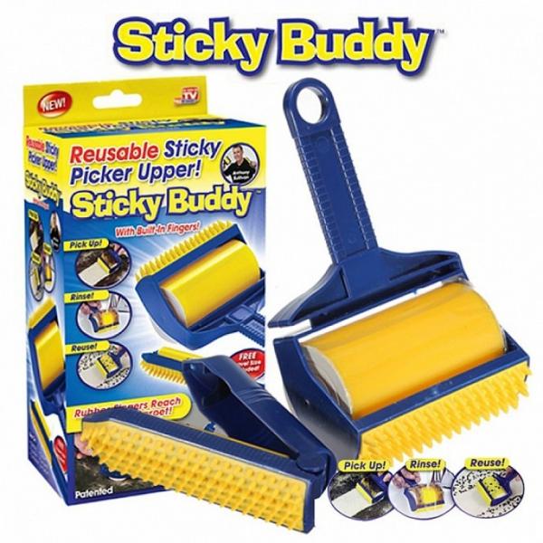 STICKY BUDDY - silikoninis pūkų, plaukų surinkiklis