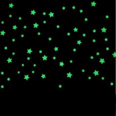 Tamsoje šviečiančios žvaigždės 100 vnt.