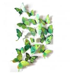 3D drugeliai su magnetu 12 vnt.