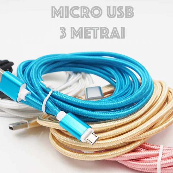 MICRO-USB Laidas 3 metrai