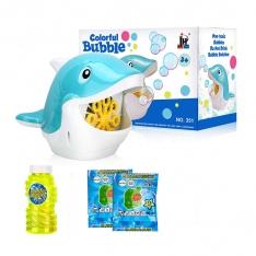 Delfinas, gaminantis muilo burbulus