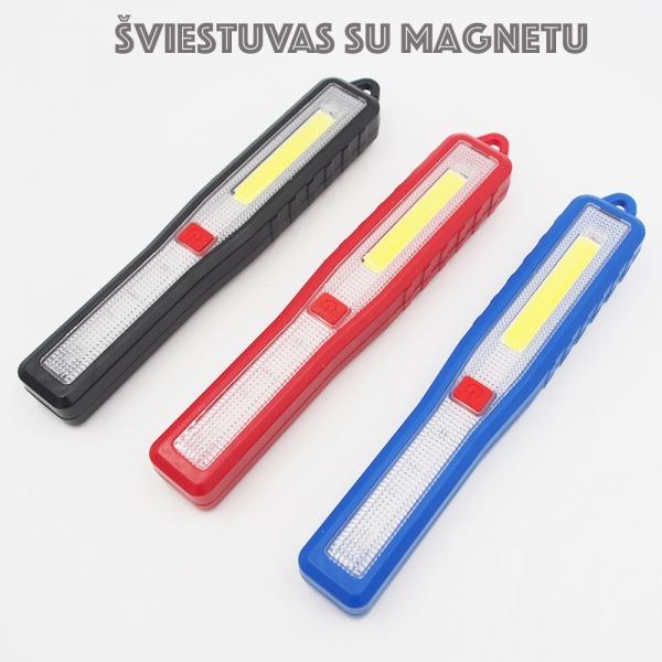 Dirbtuvių šviestuvas su magnetu