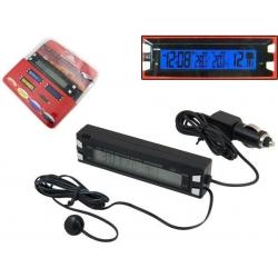 Automobilio termometras voltmetras laikrodis
