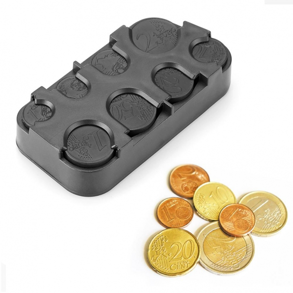 Euro monetų dėklas