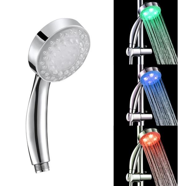 Spalvotai šviečiantis LED dušas