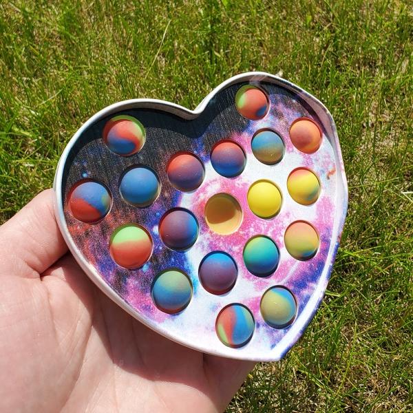 """Push Pop Bubble Fidget """"Heart"""""""