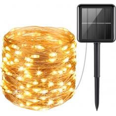 LED girlianda su saulės elementu