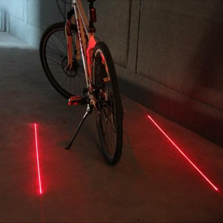 LED lazerinis žibintas- pažymėkite savo dviračio taką!