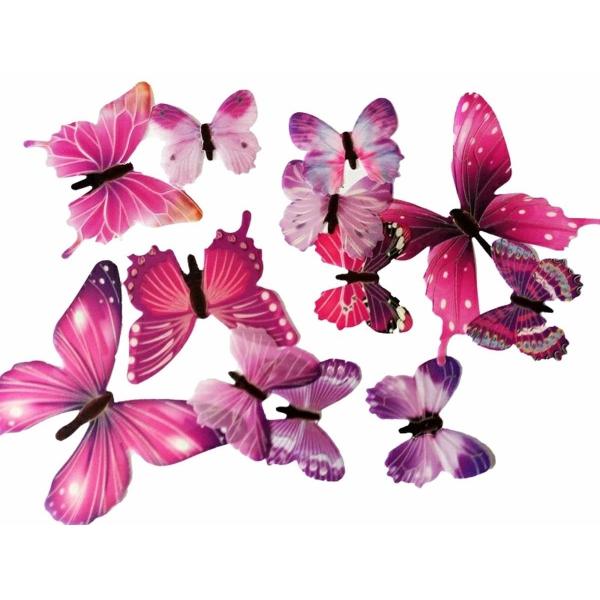 Fluorescencinių drugelių rinkinys