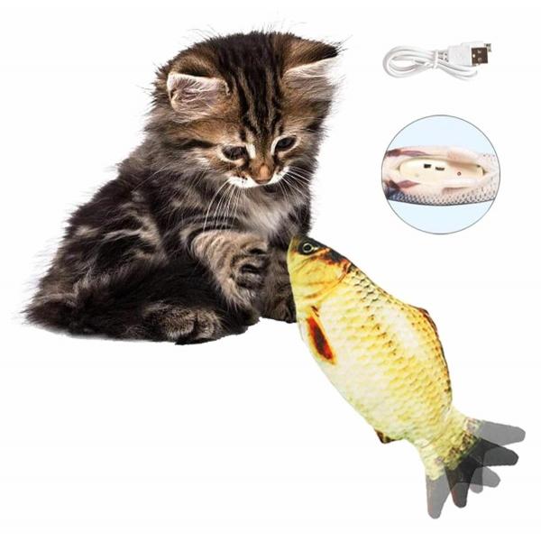 Šokinėjanti žuvis - žaislas katei