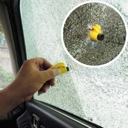 Stiklo plaktukas avarinis su saugos diržo nupjovimo peiliu