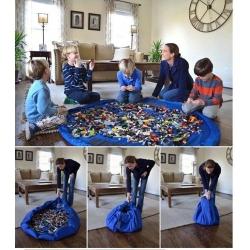 Krepšys žaislams- žaidymų kilimėlis 2in1 140cm
