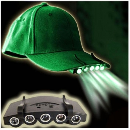 Žibintuvėlis montuojamas ant kepurės