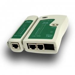 Tinklo laidų matuoklis-testeris RJ45/RJ11 UTP/FTP/STP + FUTERAŁ