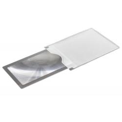 Didinamasis stiklas lupa KORTELĖ 4X