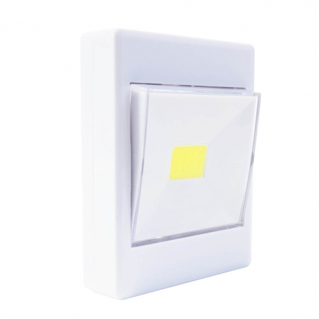 Super Bright Switch belaidis šviestuvas 3W COB LED