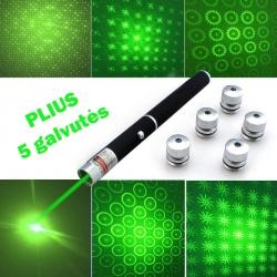 Žalias lazeris PLIUS 5 efektų galvutės 50mW