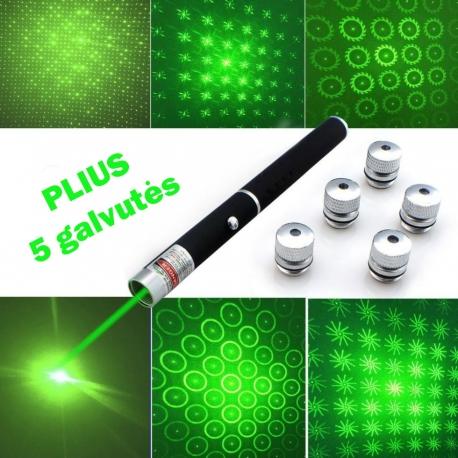 Žalias lazeris PLIUS 4 efektų galvutės 500mW